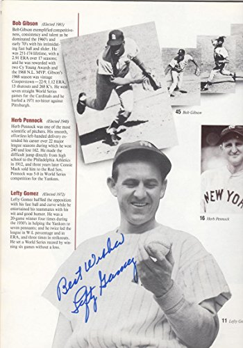Lefty Gomez Autographed 1987 Hall of Fame Yearbook JSA Authenticated (Fame Yearbook Of Hall)