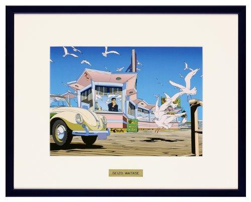 わたせせいぞう アートポスター(オフセット) Sea Gull Pier B00H0GOMZQ