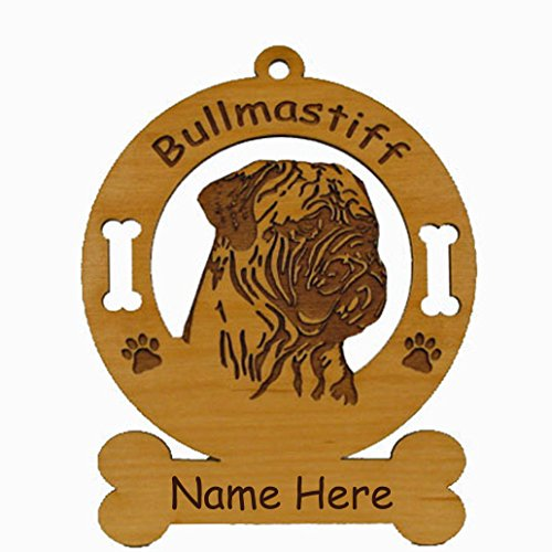 Mastiff Dog Ornament - 2018 Bull Mastiff Head Ornament Personalized with Your Dog's Name