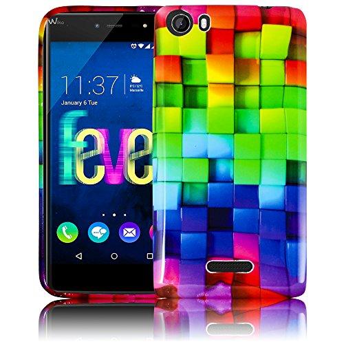 Wiko Fever 4G COMIC HAHA Funda muelles de la cobertura de la caja del tope teléfono móvil con tapa trasera thematys® diseño 21