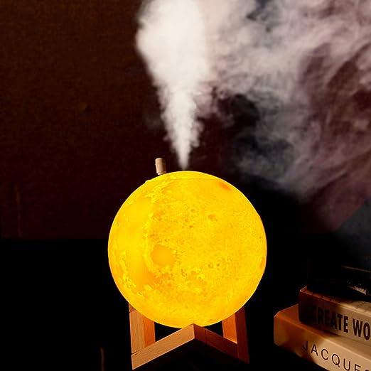 Purificador de Aire Ultras/ónico con Luz de Noche Humidificador Aromaterapia Difusor de Aceites Esenciales Difusores de Aroma para Yoga SPA Oficina Habitaci/ón Dormitorio