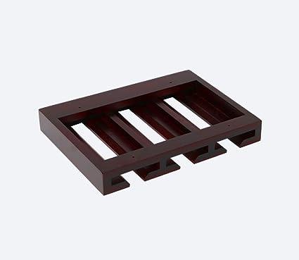 Portavasos de madera maciza Invertida Portavasos alto Creatividad colgante Portavasos de vidrio Simple Hogar Sostenedor de