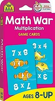 School Zone - Math War Multiplication Game Cards - Ages 8+, 3rd Grade, 4th Grade, 5th Grade, Math Games, Begin