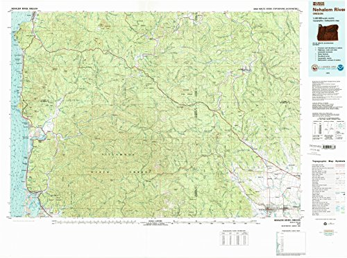 State Pittsburg Cap (YellowMaps Nehalem River OR topo map, 1:100000 Scale, 30 X 60 Minute, Historical, 1979, Updated 1989, 27.5 x 36.8 in - Polypropylene)