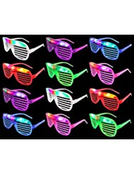 Set of 12 VT Flashing LED Multi Color \'Slotted Shutter\' Lig...