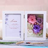 Immortal Flower Photo Frame Gift Box/Preserved Flower Rose Creative Ornaments/Birthday Gift/Mother's Day Gift-D
