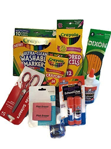 Back to School Essentials Supplies Kit Bundle K-8]()