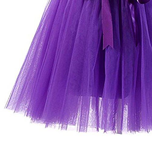 Deux ud Varies Jupe Filles Couleurs Tutu Femmes Color 50 Jupe M Annes Boucles Courte Oudan en Tulle pour Style Violet avec N Taille Ballet pTdqPUU