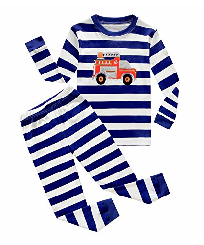 If Pajamas Fire Truck Little Boys 2 Piece T Shirt   Pajamas Pants Pjs 100  Cotton Size 3T