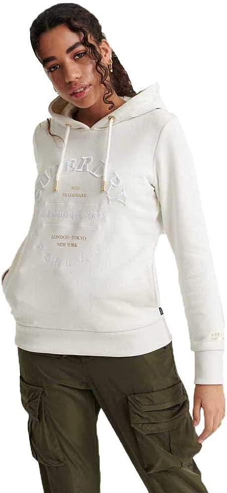 Superdry Applique Serif Hood Capucha para Mujer