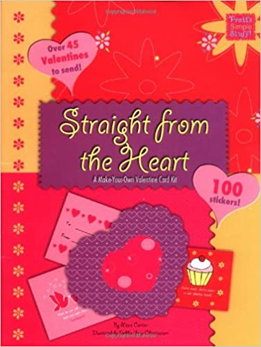 straight from the heart a make your own valentine card kit pretty simple stuff mara conlon 9780843116465 amazoncom books