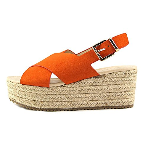 Plateausandalen Lässige Gd Toe West Nine Beachy Open Womens Orange 60x70Oan