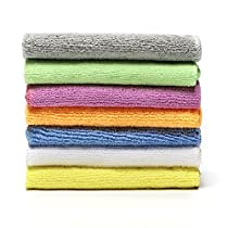 Microfiber Face Towels Washcloths (7-Pack 12x12) - Soft, Fast Drying Cleaning Towel,Fit for Multi-Purpose Exfoliating, Highly Absorbent Extra for Hand, Gym ,Spa &Travel or General House Cleaning.