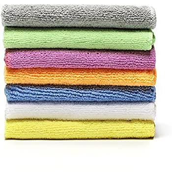 """Microfiber Face Towels Washcloths (7-Pack 12x12"""") - Soft, Fast Drying Cleaning Towel,Fit for Multi-Purpose Exfoliating, Highly Absorbent Extra for Hand, Gym ,Spa &Travel or General House Cleaning."""