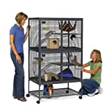 Midwest Critter Nation Animal Habitat with Stand, Double Unit, 36-Inch by 24-Inch by 63-Inch