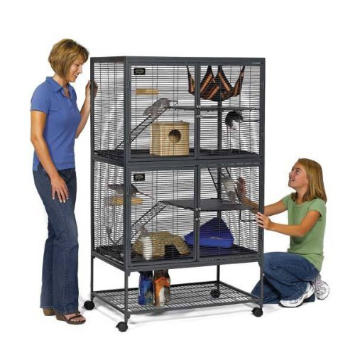 midwest-critter-nation-animal-habitat-with-stand-double-unit-36-inches-by-24-inches-by-63-inches
