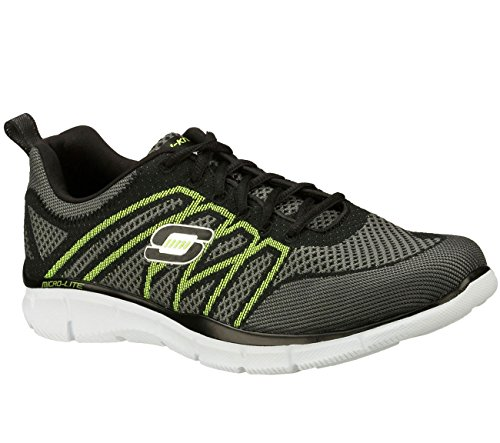 Skechers equalizer No Limits Mens Sneakers Black/Lime 13