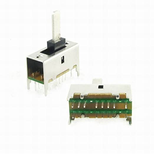 1//5PCS DICGU VS011-4B Slide Switch 8 Sharp Pins 3 Positions Maintained 8A 250VAC