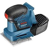 Bosch Professional 06019D0201 GSS 18V-10 Professional Akku Schwingschleifer Ladegerät, Schleifpapier, 3X Schleifplatte, Stanzwerkzeug, Schraubendreher, L-Boxx, 18V, 10,2 x 5,0 Ah, 18 V, 2 Stück