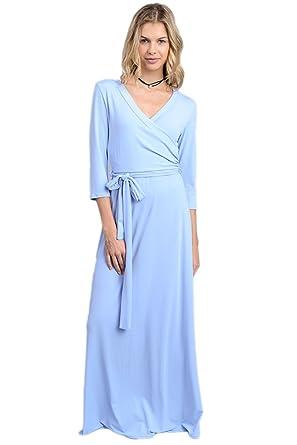 6b3991ad557 Vanilla Bay Full Length Wrap Maxi Dress at Amazon Women s Clothing ...