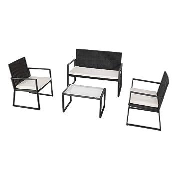 Aktive 61009 Conjunto muebles ratán para jardín: Amazon.es ...