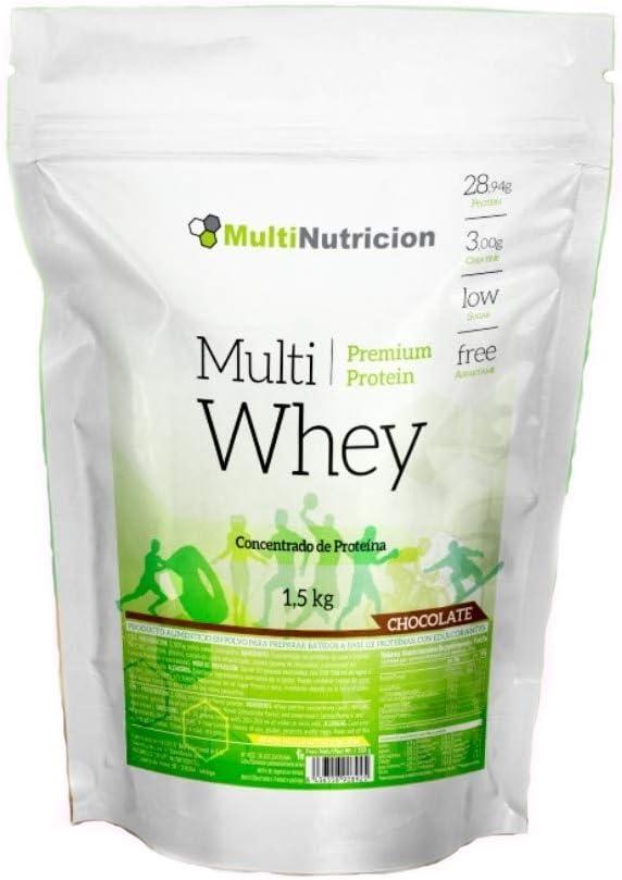 Multi Whey Concentrado de Proteína 1.500 gr Sabor Chocolate | Tratamiento para un mes