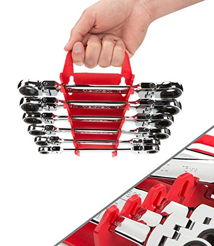 TEKTON WRN76164 Flex-Head Ratcheting Box End Wrench Set with Store and Go Keeper, Metric, 8 mm - 19 mm, 6-Piece by TEKTON (Image #9)