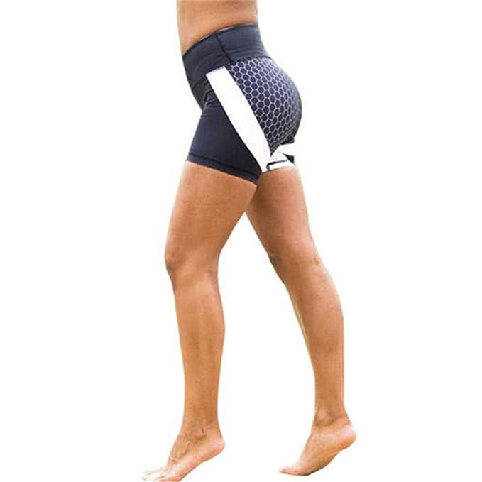 Amazon.com: Dainzuy Yoga Shorts for Women Honeycomb Digital ...