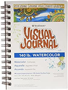 """Strathmore Visual Journal Watercolor 5.5""""X8""""-22 Sheets"""