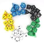 MATCHED COLOUR D&D RPG Dice bulk dice...
