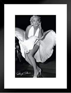 4f00f63a2e5 Pyramid America Marilyn Monroe Seven Year Itch Hollywood Glamour Celebrity  Actress Icon Photograph Matted Framed Poster