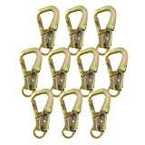 Fusion Climb Optimus Plus Carbon Steel Captive Eye Drop Forged Double Lock Snap Hook 10-Pack