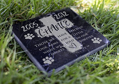 Memorial Pet Headstone - We Hold in Our Hearts - (Marble Grave Markers)