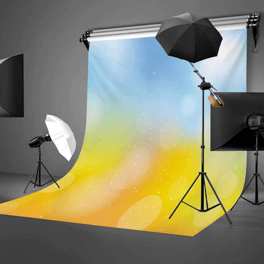 Yellow and Blue 10x12 FT Backdrop Photographers,Gradient Toned Autumn Season Frame in Pastel with Hazy Effects Background for Baby Shower Birthday Wedding Bridal Shower Party Decoration Photo Studio