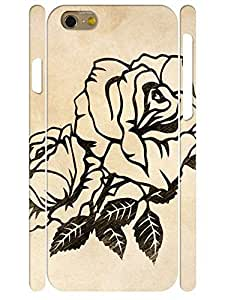 Design Hipster Black Flower Pattern 3D Print Rugged Phone Dust Proof Case for Iphone 6 4.7 Inch