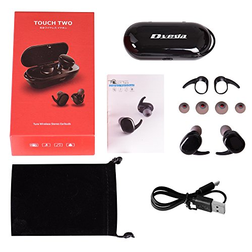 Bluetooth Headphones,Dveda True Wireless Stereo Earbuds Dual Bluetooth Headsets with Charging Box Built-in Mic and Noise Cancelling Stereo for iPhone and Android by DVEDA (Image #6)