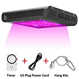 600W LED Grow Light, Plant Grow Lamp with Timer, Double Chips Full Spectrum with UV and IR for Greenhouse Indoor Plant Veg and Flower (AGLEX)