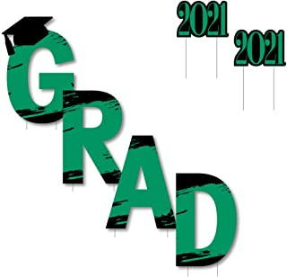 product image for Big Dot of Happiness Green Grad - Best is Yet to Come - Yard Sign Outdoor Lawn Decorations - Green 2021 Graduation Party Yard Signs - Grad