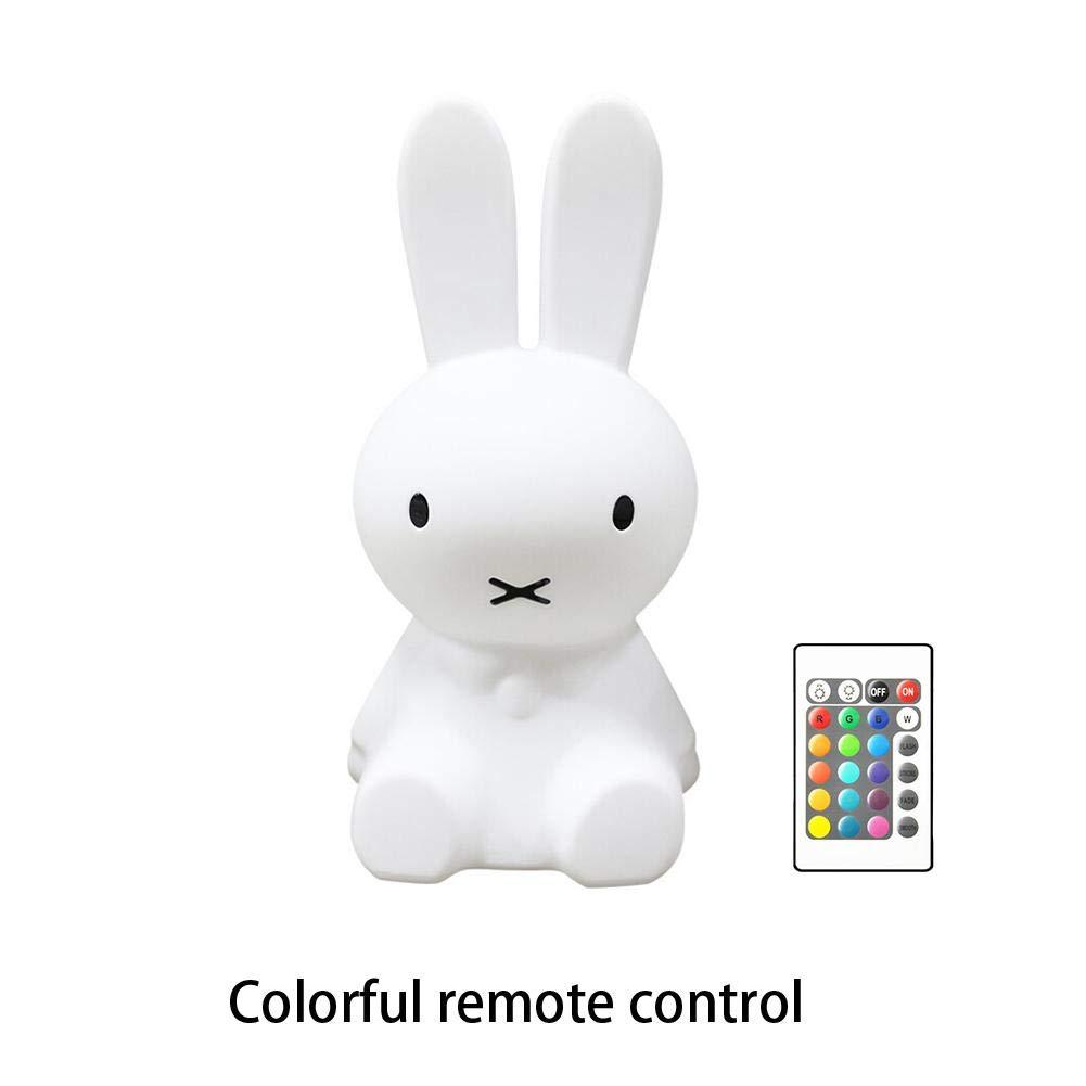 Reputedc Wiederaufladbare h28cm LED Kaninchen nachtlicht USB fü r Kinder Baby Kinder Geschenk Tier Cartoon dekorative Lampe Nacht Schlafzimmer Wohnzimmer