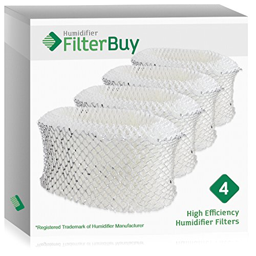 FilterBuy Replacement Humidifier Filters Compatible with Holmes & Sunbeam Part # HWF62.  Replacement for part # HWF62, HWF62D, HWF-62 & Hamilton Beach Part # 05910.  Pack of 4