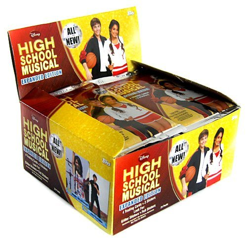 (2008 Topps High School Musical II (Expanded) Card & Sticker Fun Packs Hobby Box - Disney Trading Cards (24)