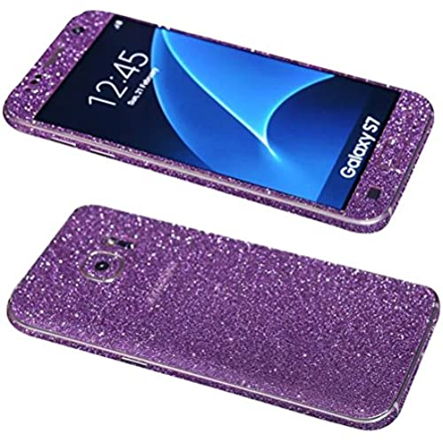 Dreams Mall(TM)Samsung Galaxy S7,Hot Fashion Bling Glitter Crystal Diamond Whole Body Protector Film Sticker,Purple Sales
