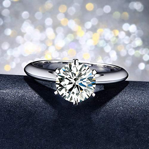 - Tomikko Solitaire 1.5ct Engagement CZ 925 Silver Women Wedding Band Ring Sz 4-9 | Model RNG - 24888 | 5,5