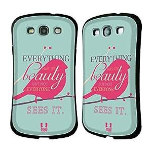 Head Case Designs Beauty Teachings of Confucius Hybrid Gel Back Case for Samsung Galaxy S3 III I9300