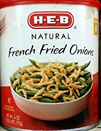 HEB Natural French Fried Onions 6 Oz (Pack of 6)