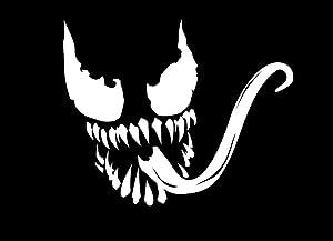 "KCD Spiderman Venom Vinyl Decal Sticker Cars Trucks Vans Walls Laptops (White, 5.5"")"