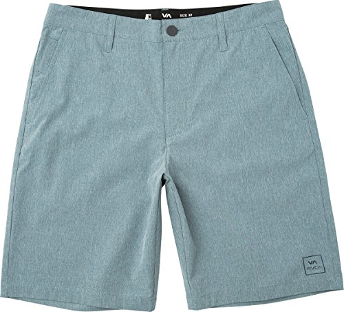 RVCA Men's All The Way Hybrid Short, Blue Slate, 31 Microfiber Flat Front Shorts