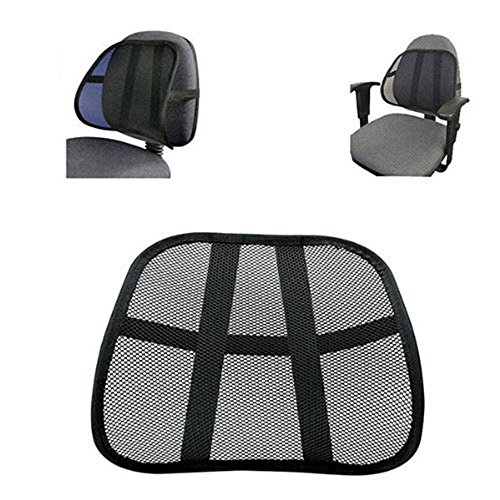 BSGSH Lumbar Support Cushion Seat Back Muscle Car Home Office Chair Pain Relief Travel - Cool Breathable Mesh Support by BSGSH (Image #3)