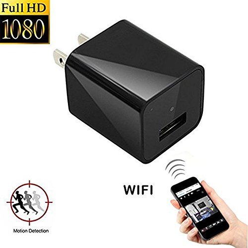 Mini Wifi Hidden Camera, Topyea 1080P HD Camera Plug Wall Charger Video Recorder Wireless Real ...