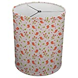 Hardback Linen Drum Cylinder Lamp Shade 8'' x 8'' x 8'' Spider Construction [ Bird Love Couple Cute ]